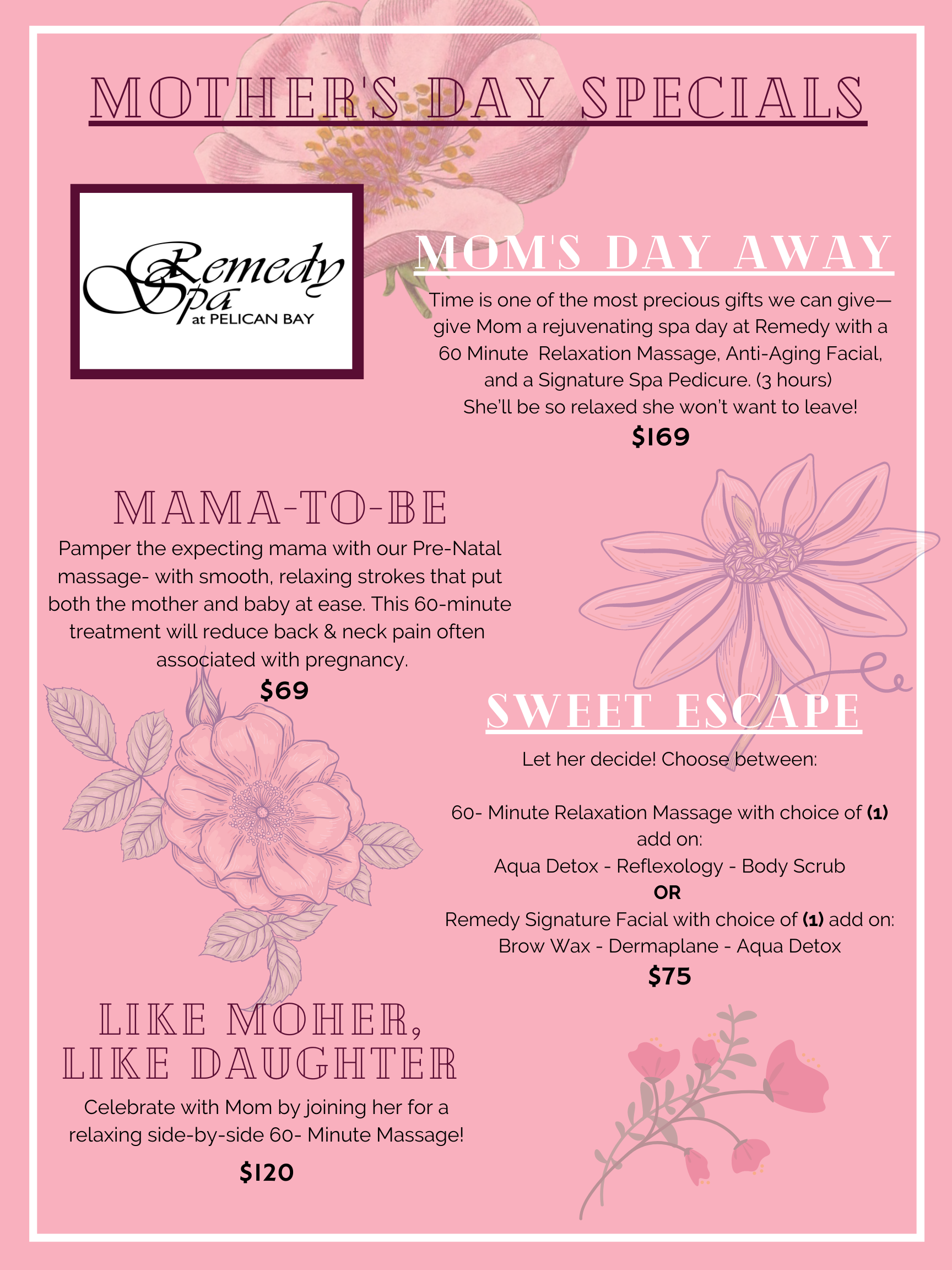 Mothers Day Promotions